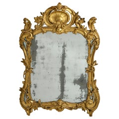 Louis XV Period Giltwood Mirror