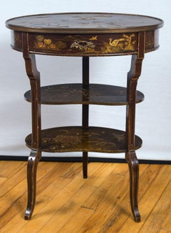 A Louis XV Style Japanned Chiffonier Table