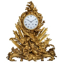 Louis XV Style Ormolu Mantel Clock after Graux-Marly Frères
