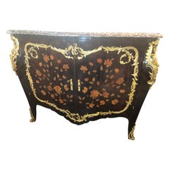 Louis XV Style Ormolu-Mounted Kingwood and Tulipwood Marquetry Cabinet