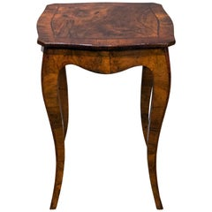 Louis XV Style Walnut End Table