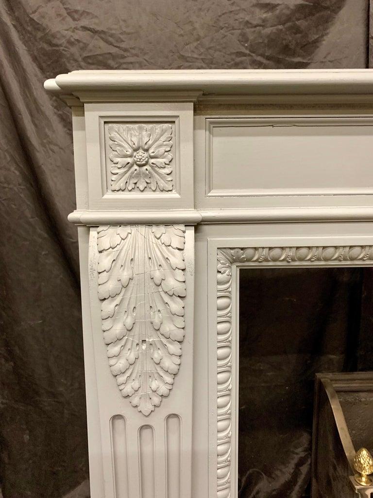 Louis Xvi Style 19th Century French Mahogany Fireplace