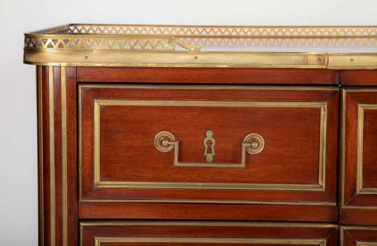 Louis XVI Style Mahogany Chest of Drawers For Sale 5
