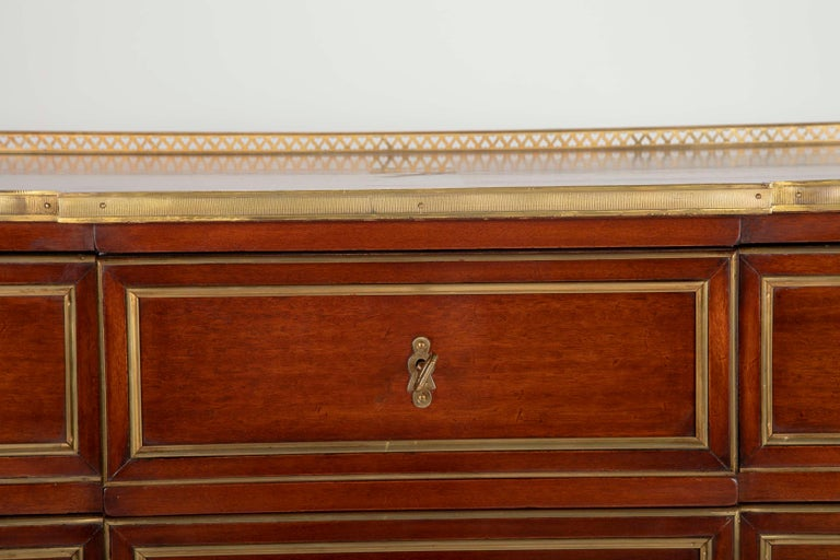 Louis XVI Style Mahogany Chest of Drawers For Sale 6