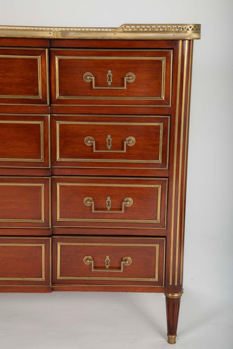 Louis XVI Style Mahogany Chest of Drawers For Sale 7