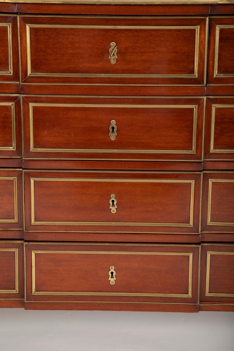 Louis XVI Style Mahogany Chest of Drawers For Sale 8