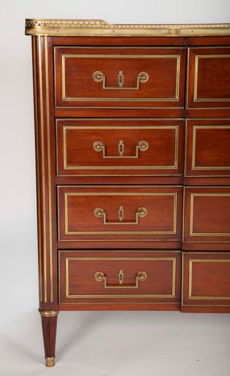 Louis XVI Style Mahogany Chest of Drawers For Sale 9