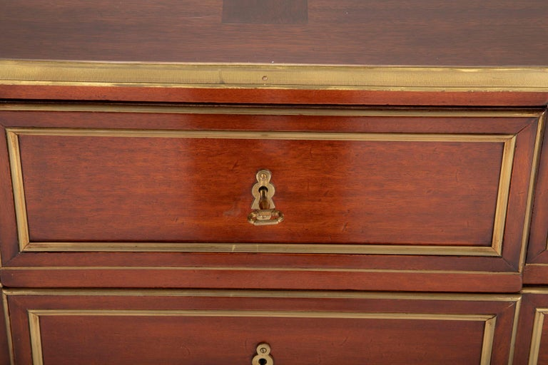 Louis XVI Style Mahogany Chest of Drawers For Sale 10