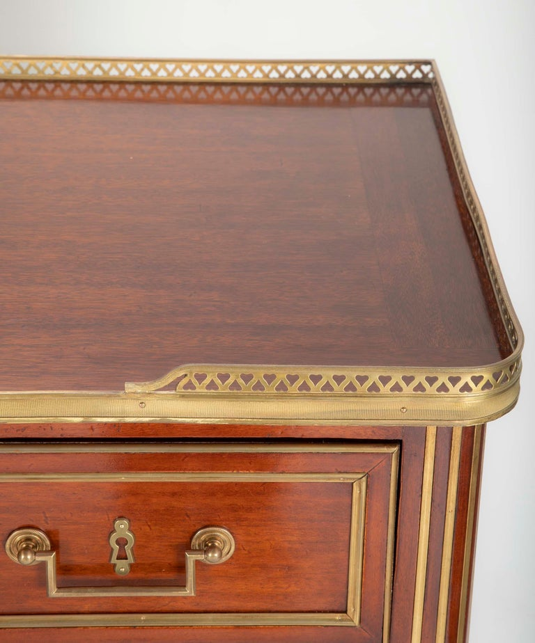 Louis XVI Style Mahogany Chest of Drawers For Sale 11