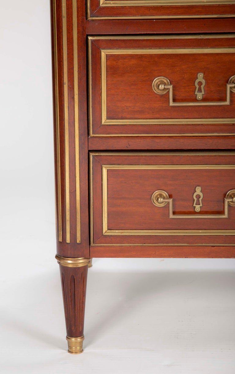 Louis XVI Style Mahogany Chest of Drawers For Sale 13
