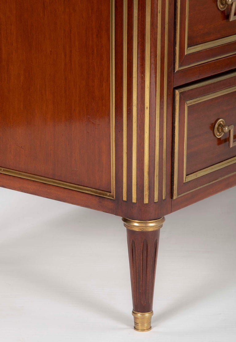 Louis XVI Style Mahogany Chest of Drawers For Sale 14
