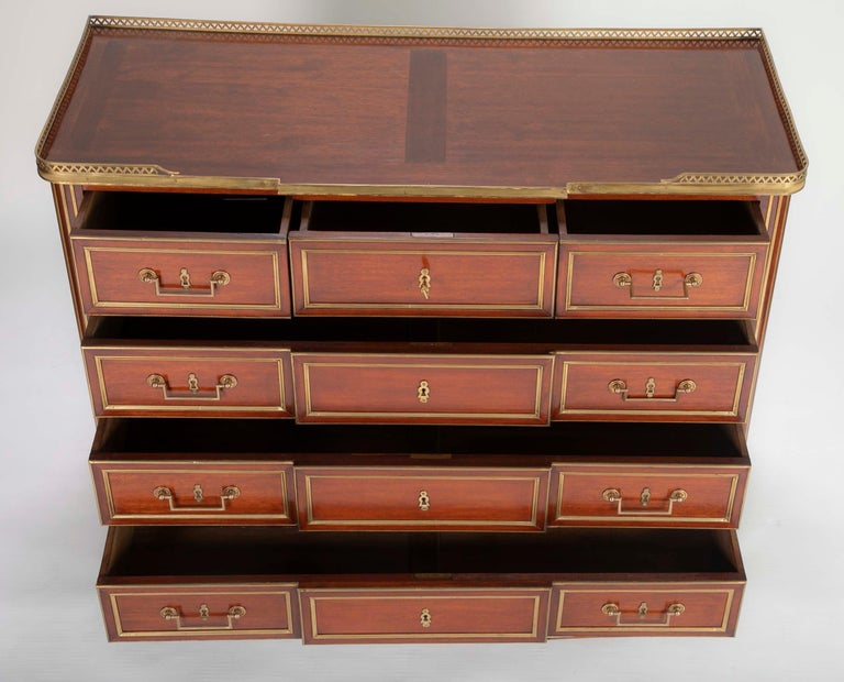 Louis XVI Style Mahogany Chest of Drawers For Sale 1
