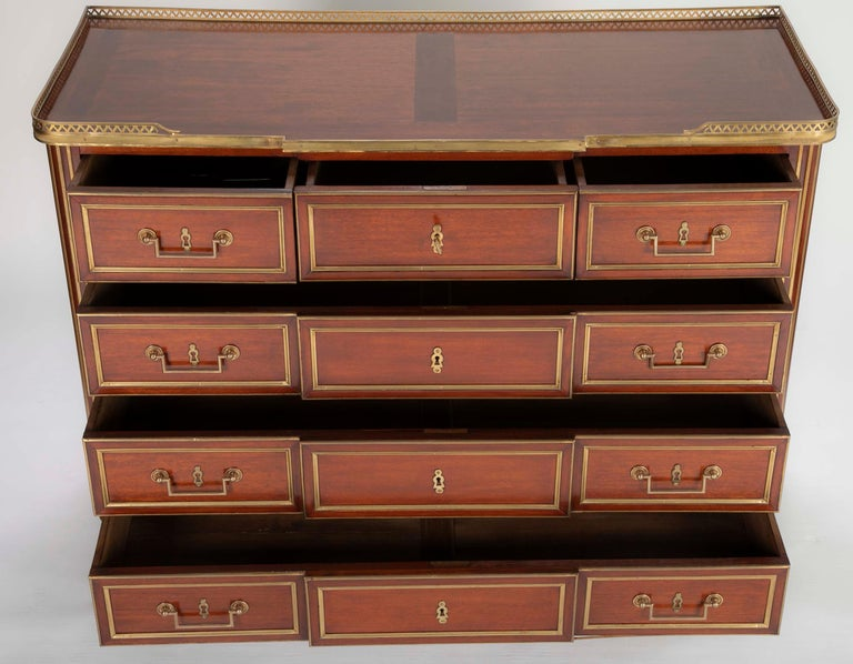 Louis XVI Style Mahogany Chest of Drawers For Sale 2