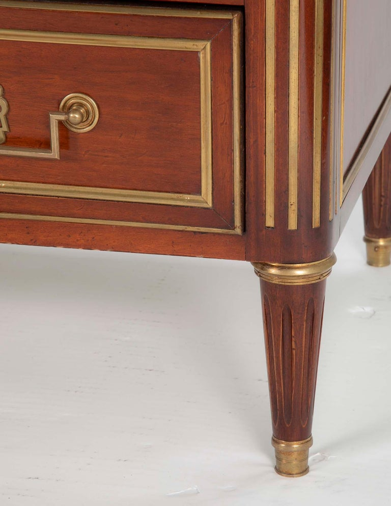 Louis XVI Style Mahogany Chest of Drawers For Sale 4