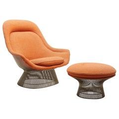 Lounge Chair with Ottoman, Warren Platner