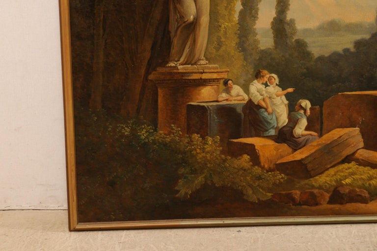 Lovely 19th Century Italian Capriccio Wall Painting In Good Condition For Sale In Atlanta, GA