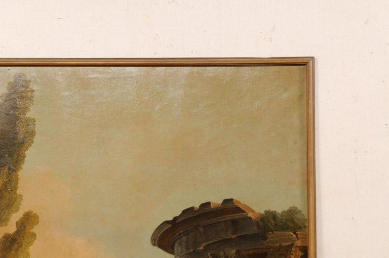 Lovely 19th Century Italian Capriccio Wall Painting For Sale 1