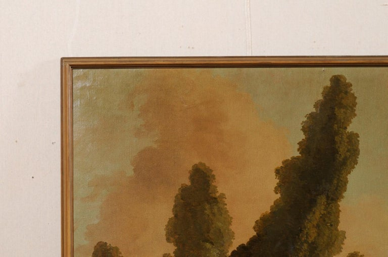 Lovely 19th Century Italian Capriccio Wall Painting For Sale 2