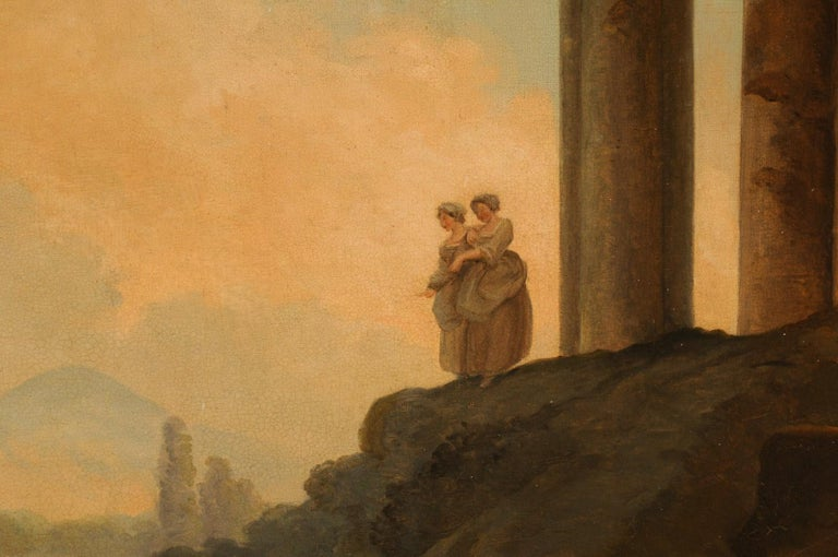 Lovely 19th Century Italian Capriccio Wall Painting For Sale 4