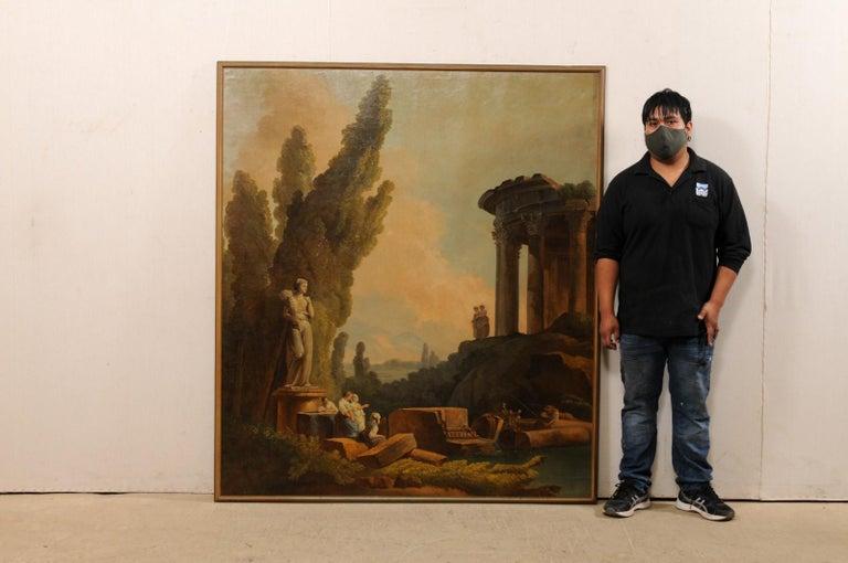 Lovely 19th Century Italian Capriccio Wall Painting For Sale 5