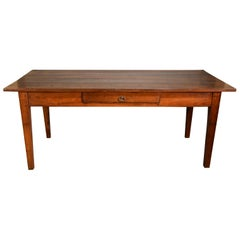 Lovely Mid-19th Century French Cherry Wood Farmhouse Table