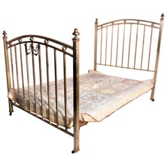 Lovely Victorian Brass Double Bed