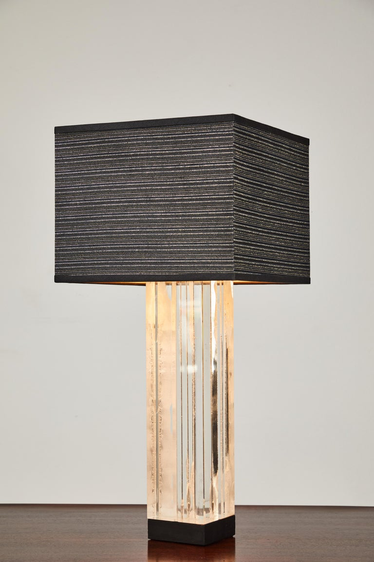 American Lucite Table Lamp by Billy Haines For Sale