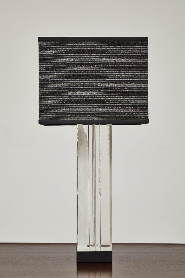 Painted Lucite Table Lamp by Billy Haines For Sale