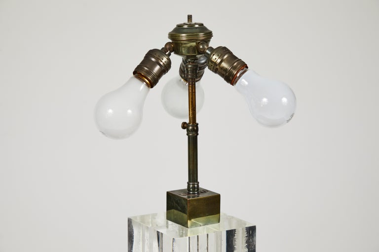 Mid-20th Century Lucite Table Lamp by Billy Haines For Sale