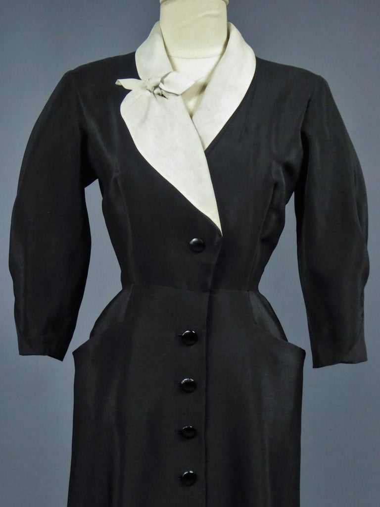 A Maggy Rouff French Couture Dinner Dress Circa 1950 For Sale 7