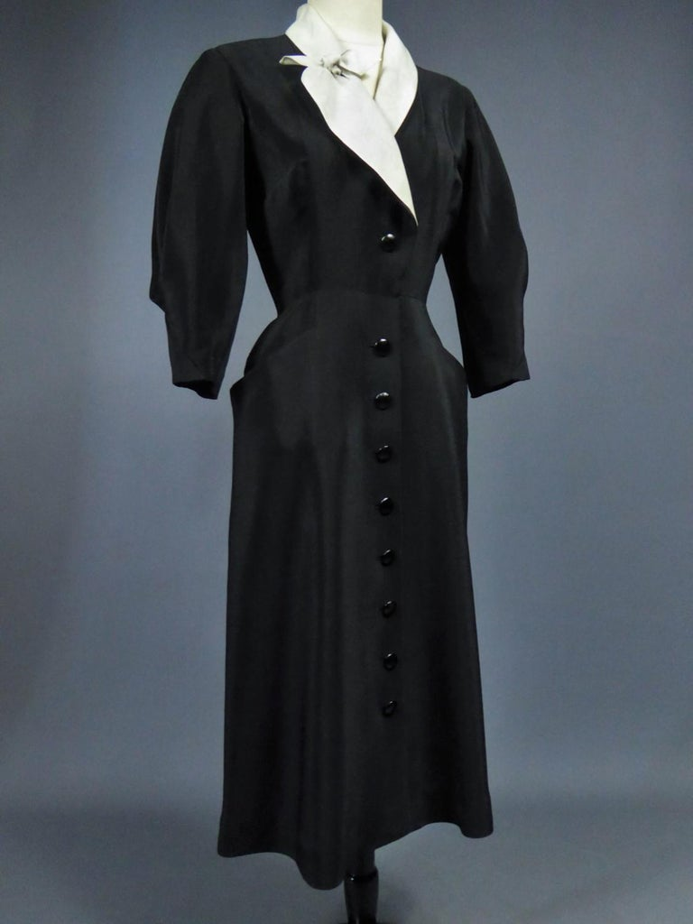 A Maggy Rouff French Couture Dinner Dress Circa 1950 For Sale 8