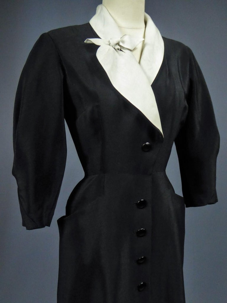 A Maggy Rouff French Couture Dinner Dress Circa 1950 For Sale 9