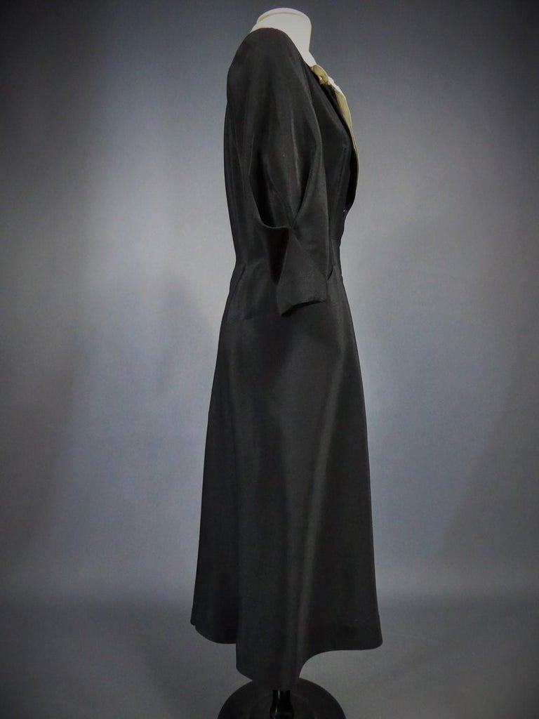 A Maggy Rouff French Couture Dinner Dress Circa 1950 For Sale 10