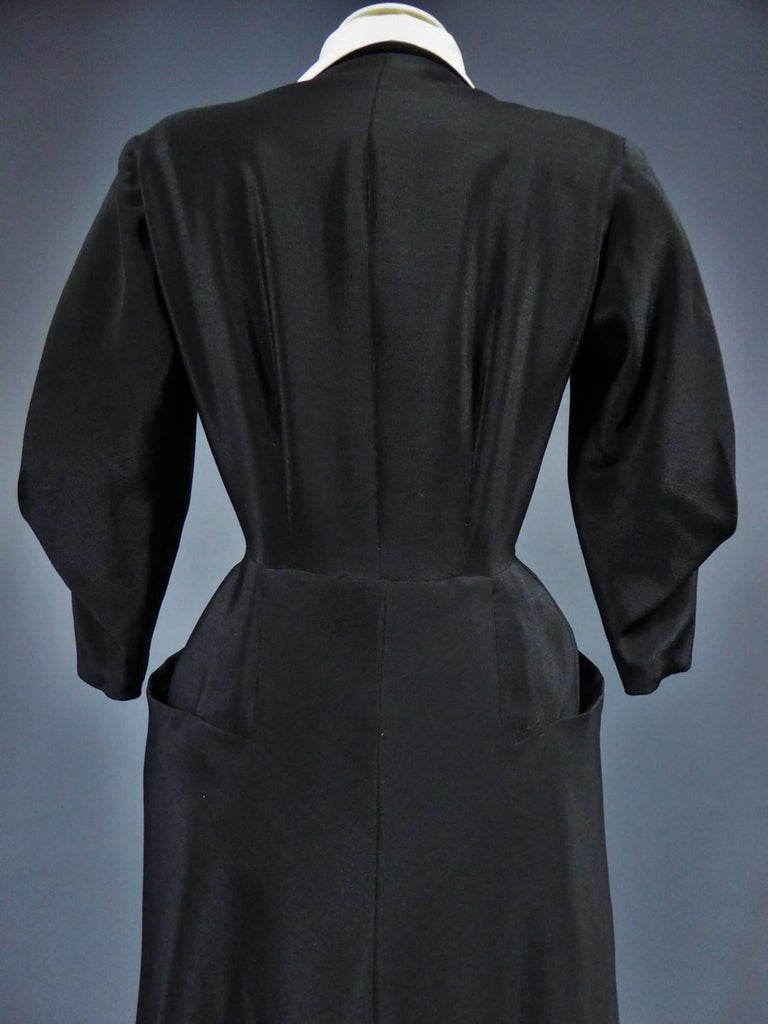 A Maggy Rouff French Couture Dinner Dress Circa 1950 For Sale 12