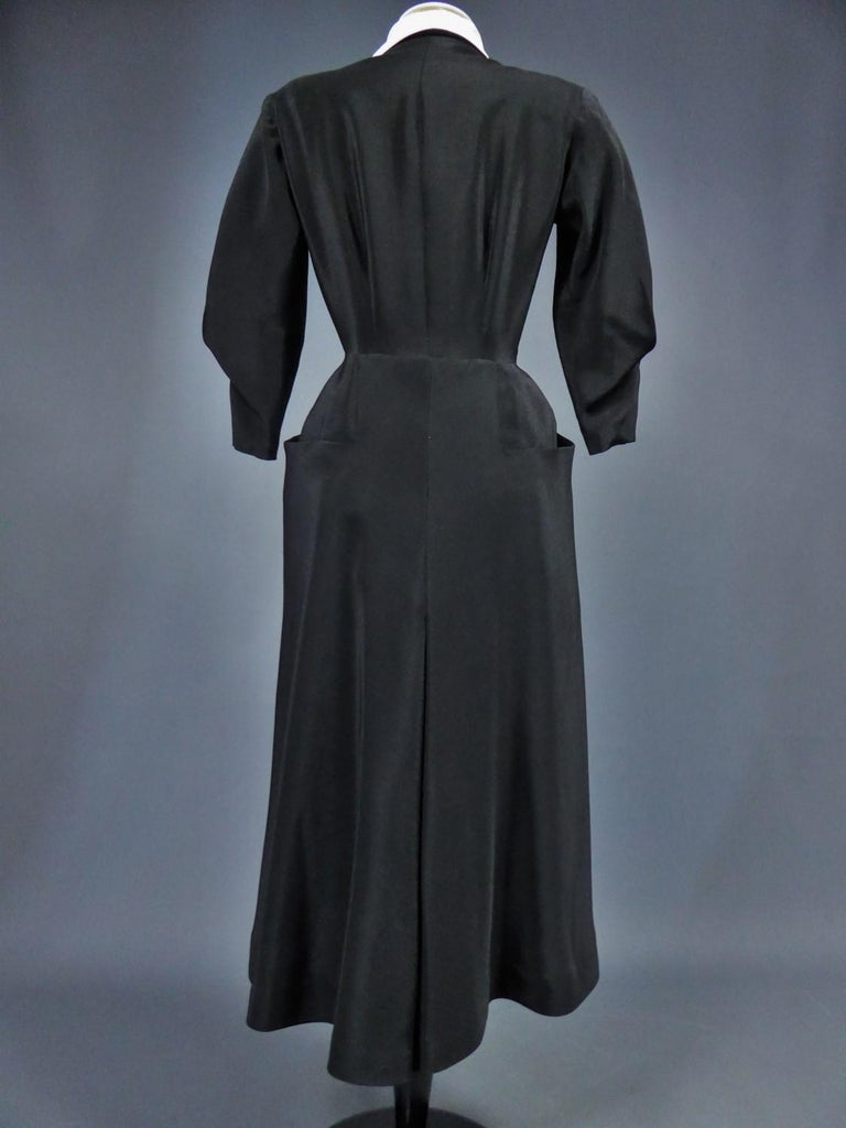 A Maggy Rouff French Couture Dinner Dress Circa 1950 For Sale 14