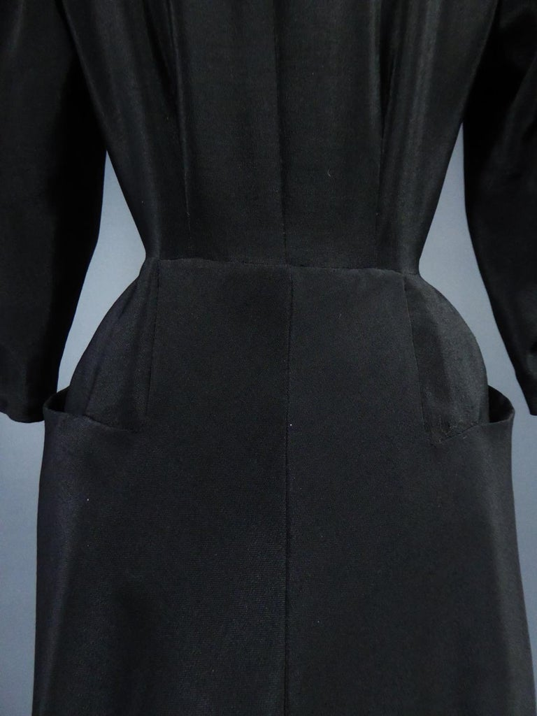 A Maggy Rouff French Couture Dinner Dress Circa 1950 For Sale 15