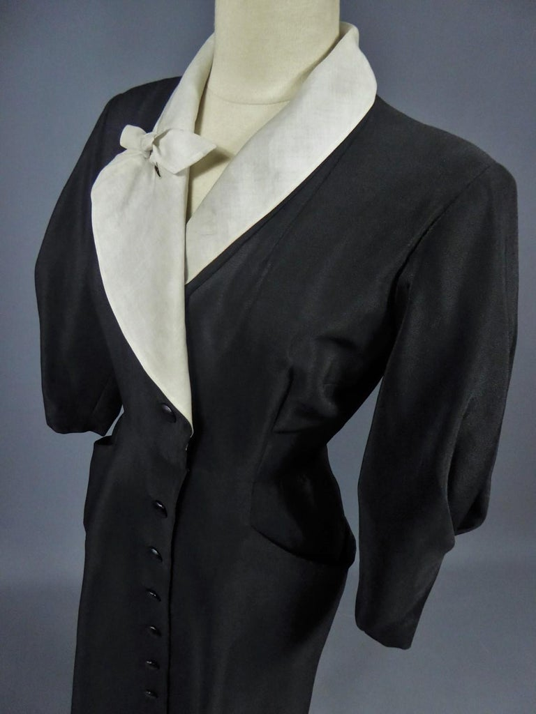 A Maggy Rouff French Couture Dinner Dress Circa 1950 For Sale 16