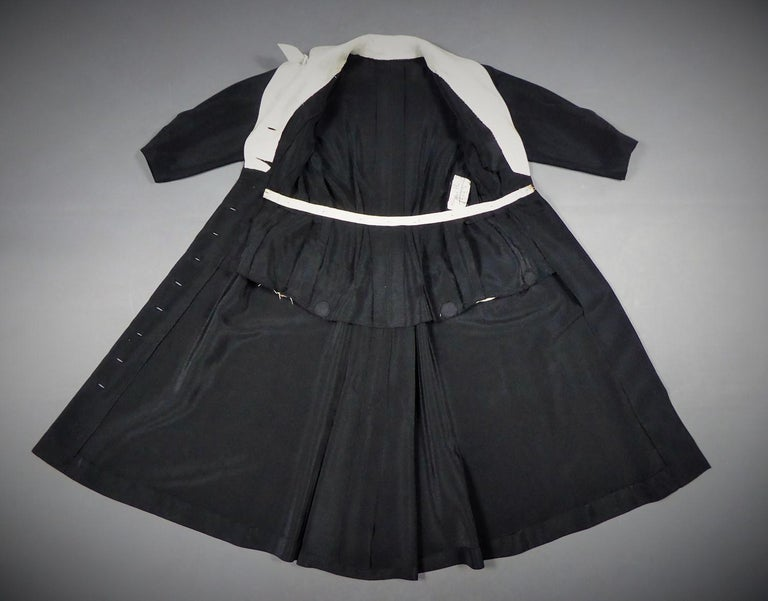 A Maggy Rouff French Couture Dinner Dress Circa 1950 In Good Condition For Sale In Toulon, FR