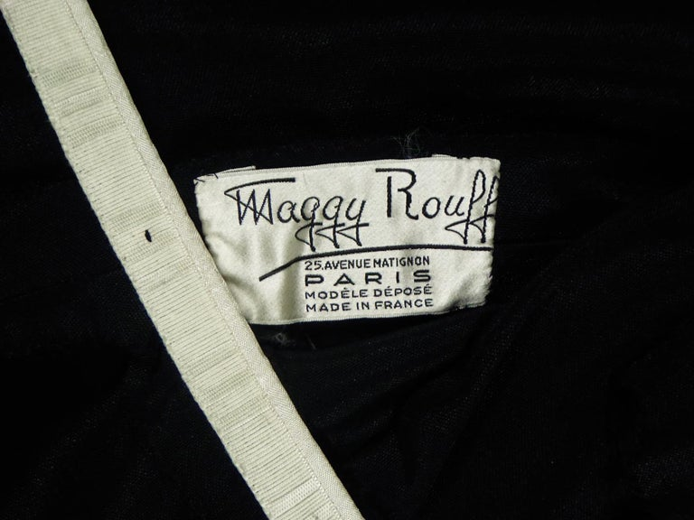 A Maggy Rouff French Couture Dinner Dress Circa 1950 For Sale 1