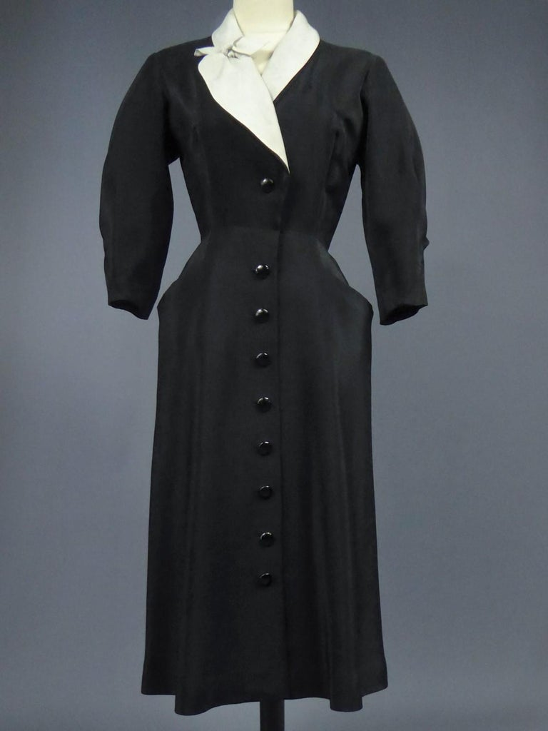 A Maggy Rouff French Couture Dinner Dress Circa 1950 For Sale 3