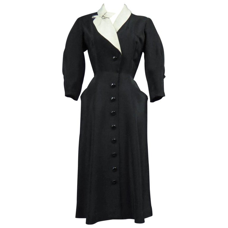 A Maggy Rouff French Couture Dinner Dress Circa 1950 For Sale