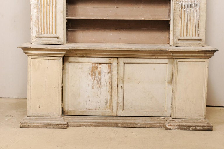 Magnificent Italian Cabinet with Roman Ionic Columns and Original Paint For Sale 1