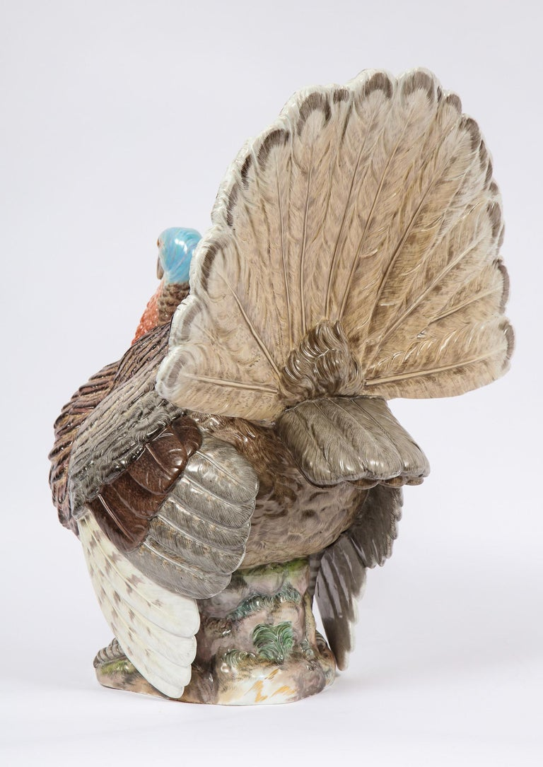 Magnificent and Rare 19th Century Life-Sized Meissen Porcelain, Turkey For Sale 2
