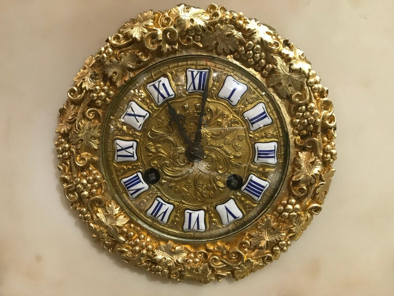 Louis Philippe Magnificent Gilt Bronze and Marble Clock For Sale