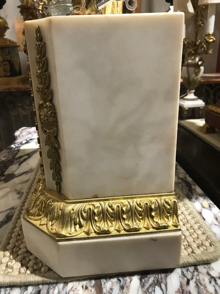 Magnificent Gilt Bronze and Marble Clock For Sale 1