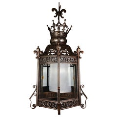 Magnificent, Hexagonal Gothic Revival Lantern Late 19th Century