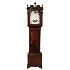 Mahogany 19th Century Antique 8 Day Grandfather Clock by Samuel Lister, Bolton