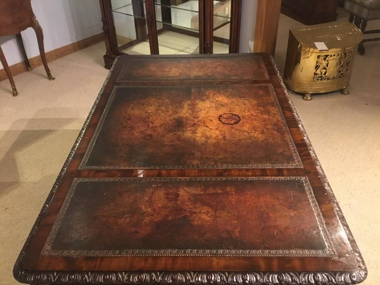 Mahogany Chippendale Revival Writing Table by Maple & Co of London circa 1900 For Sale 1