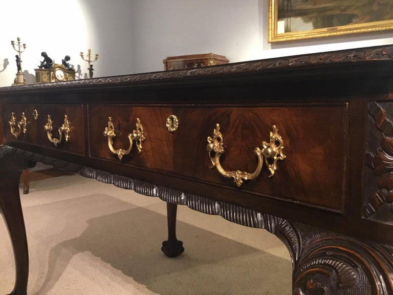 Mahogany Chippendale Revival Writing Table by Maple & Co of London circa 1900 For Sale 4