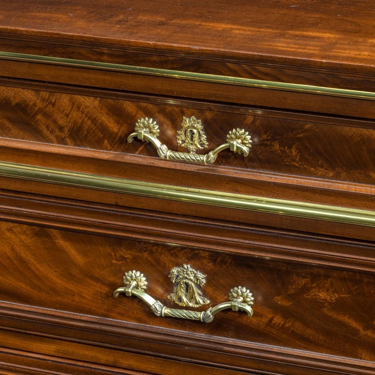 Mahogany Document Cabinet in the Louis XVI Style by Mellier of London In Good Condition For Sale In Lymington, Hampshire